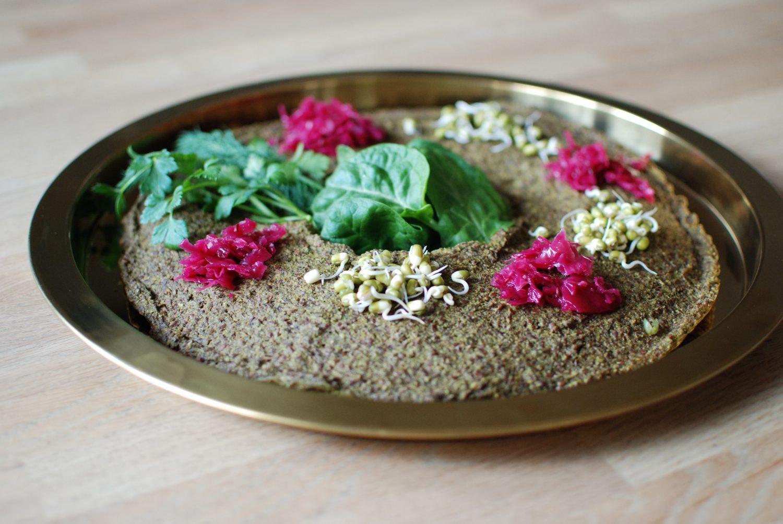 Zucchini-Flaxseed crackers